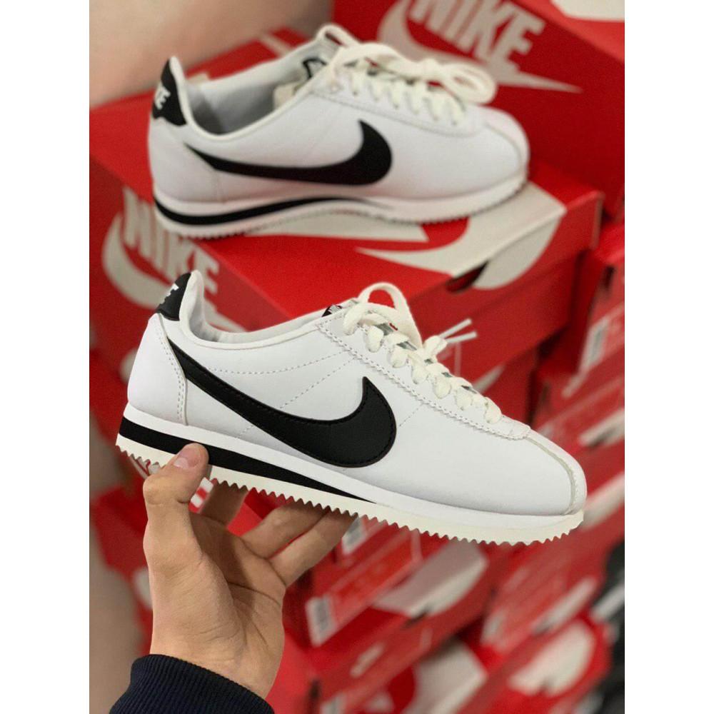 Кожаные кроссовки мужские - Белые кожаные кроссовки Nike Cortez Leather 3