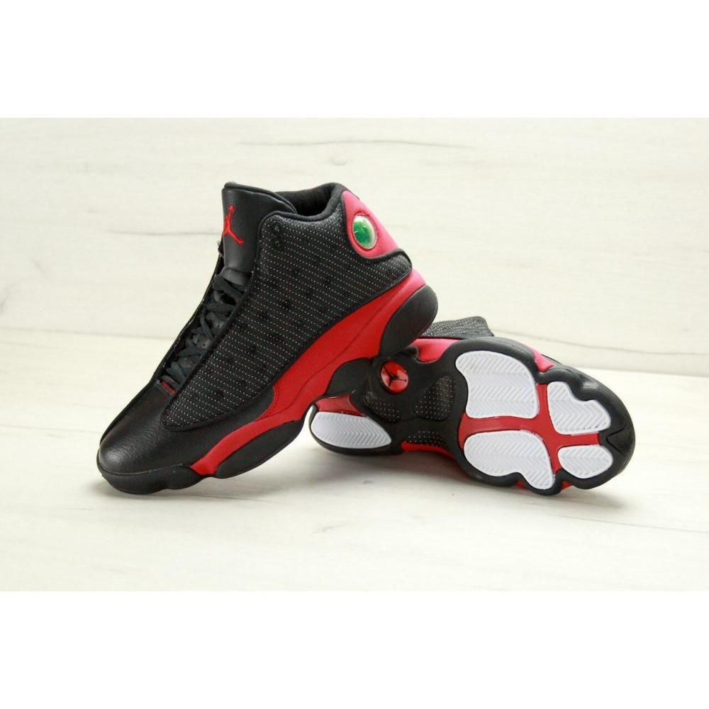 Демисезонные кроссовки мужские   - Баскетбольные кроссовки Air Jordan 13 Retro Black Red 2