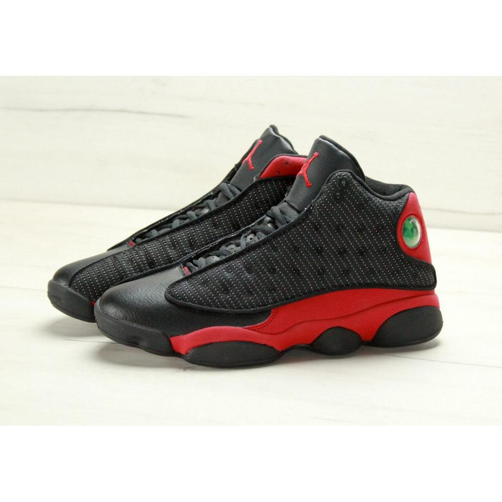 Демисезонные кроссовки мужские   - Баскетбольные кроссовки Air Jordan 13 Retro Black Red 1