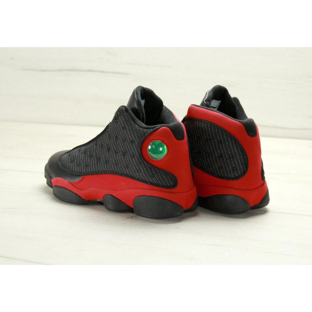 Демисезонные кроссовки мужские   - Баскетбольные кроссовки Air Jordan 13 Retro Black Red 4