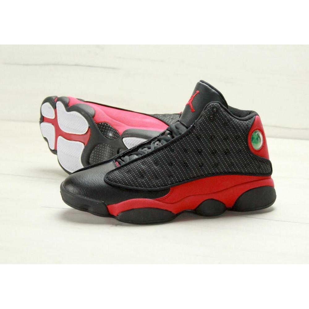 Демисезонные кроссовки мужские   - Баскетбольные кроссовки Air Jordan 13 Retro Black Red 3