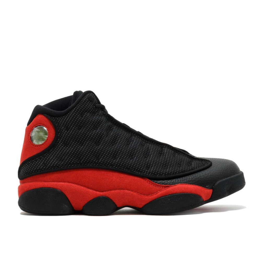 Демисезонные кроссовки мужские   - Баскетбольные кроссовки Air Jordan 13 Retro Black Red