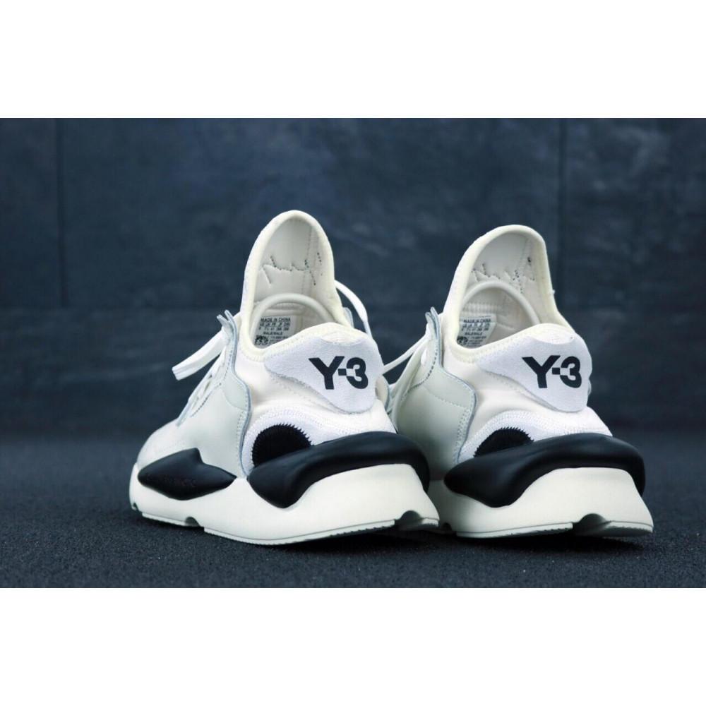 Демисезонные кроссовки мужские   - Кроссовки Adidas Y-3 Kawai серого цвета 5