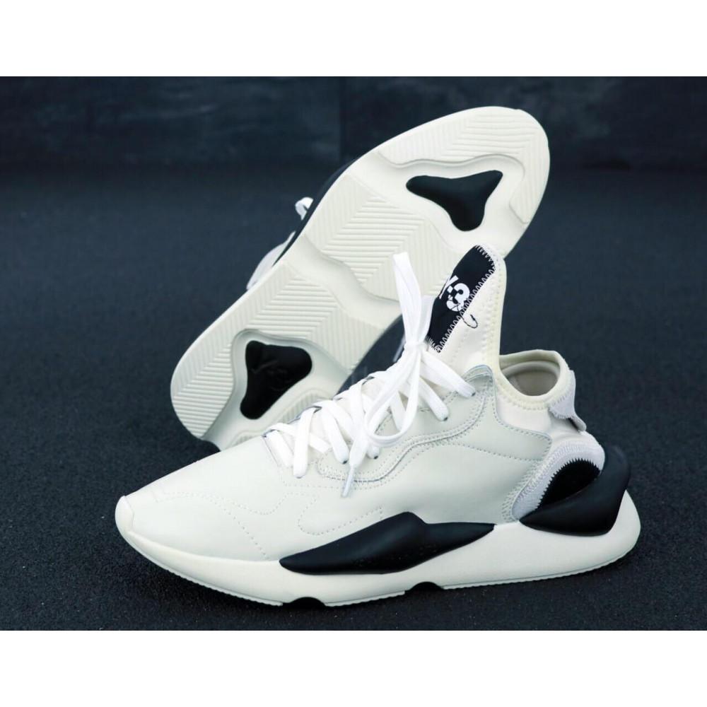 Демисезонные кроссовки мужские   - Кроссовки Adidas Y-3 Kawai серого цвета 2