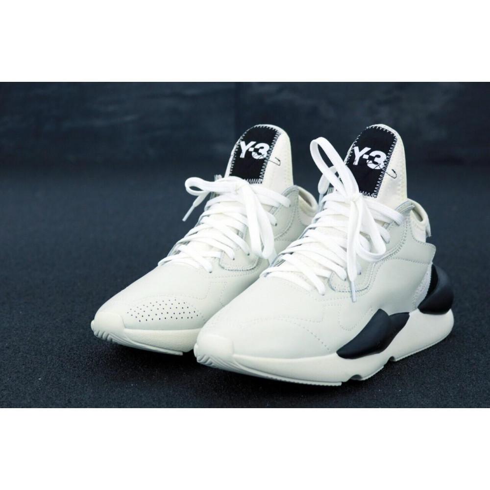 Демисезонные кроссовки мужские   - Кроссовки Adidas Y-3 Kawai серого цвета 3