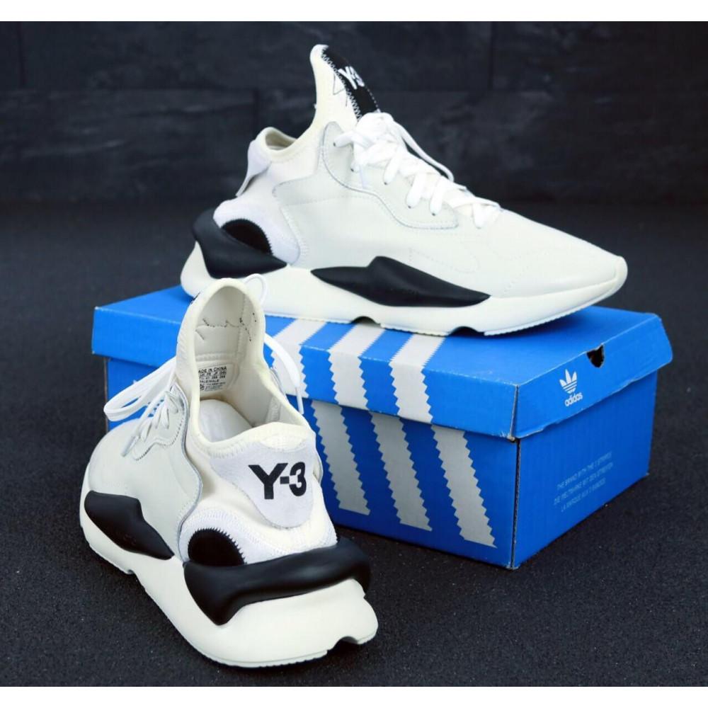 Демисезонные кроссовки мужские   - Кроссовки Adidas Y-3 Kawai серого цвета 4