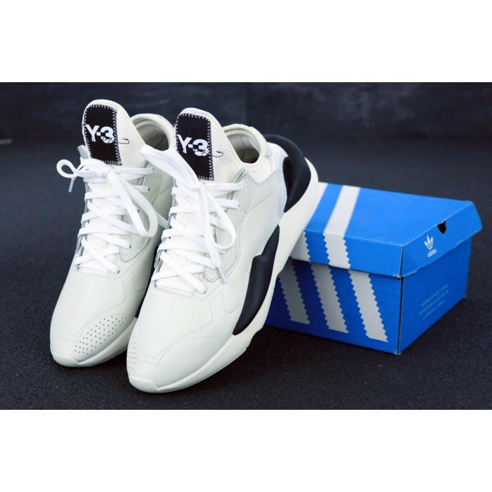 Демисезонные кроссовки мужские   - Кроссовки Adidas Y-3 Kawai серого цвета