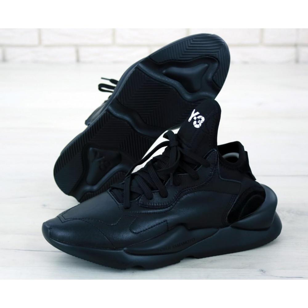 Демисезонные кроссовки мужские   - Кроссовки Adidas Y-3 Kaiwa черного цвета 2