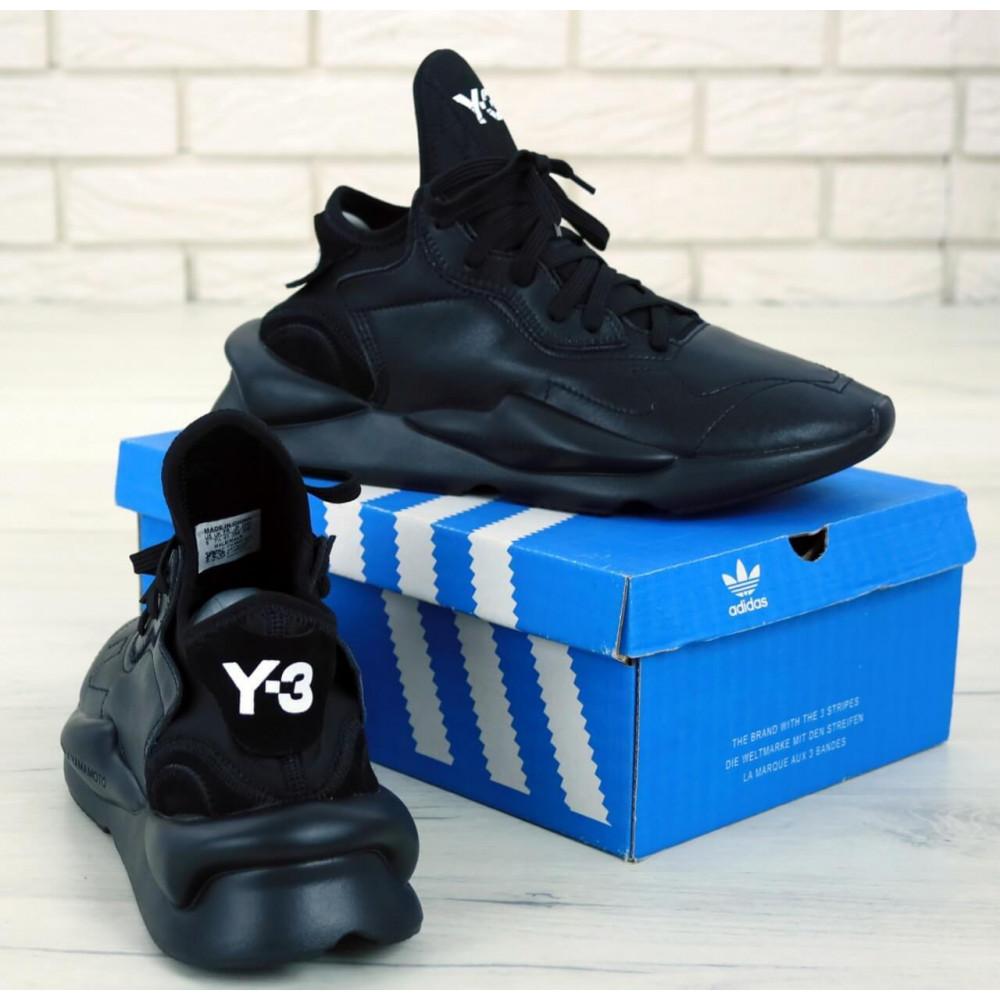 Демисезонные кроссовки мужские   - Кроссовки Adidas Y-3 Kaiwa черного цвета 4