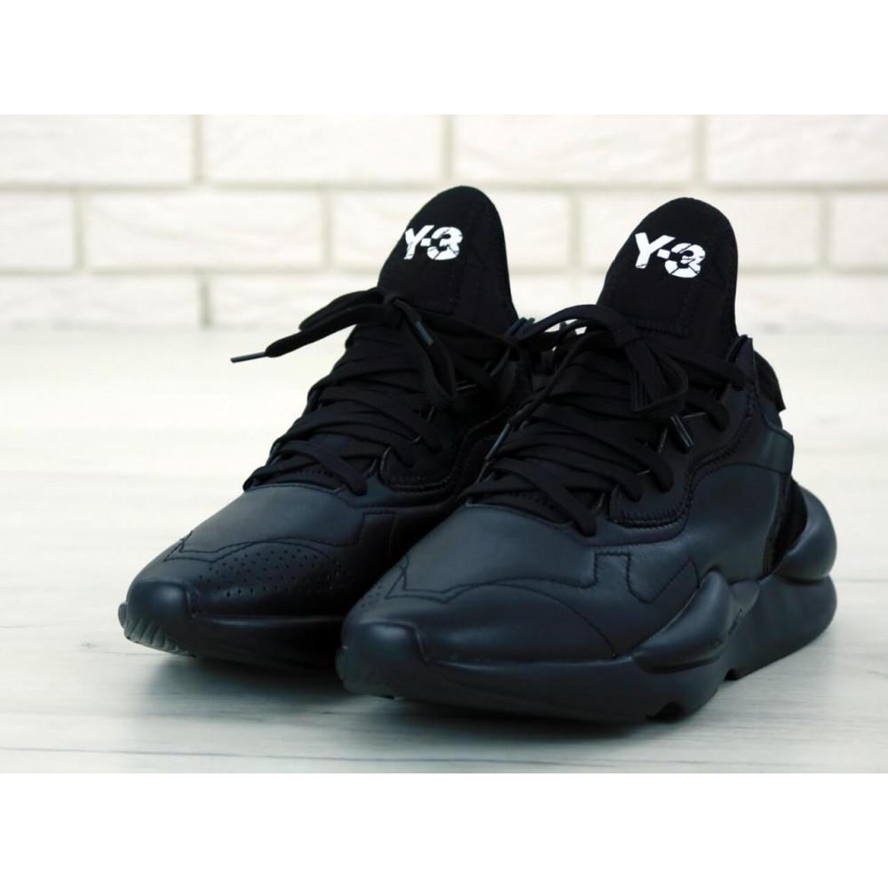 Демисезонные кроссовки мужские   - Кроссовки Adidas Y-3 Kaiwa черного цвета 3