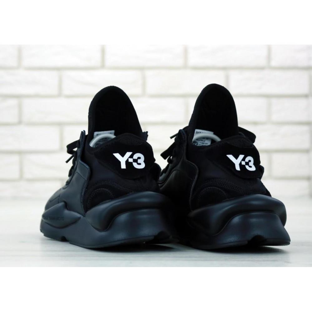 Демисезонные кроссовки мужские   - Кроссовки Adidas Y-3 Kaiwa черного цвета 5