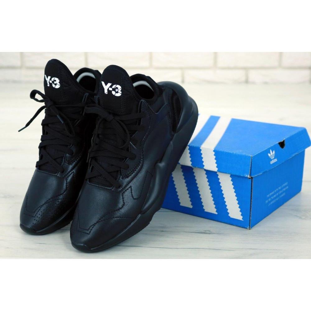 Демисезонные кроссовки мужские   - Кроссовки Adidas Y-3 Kaiwa черного цвета