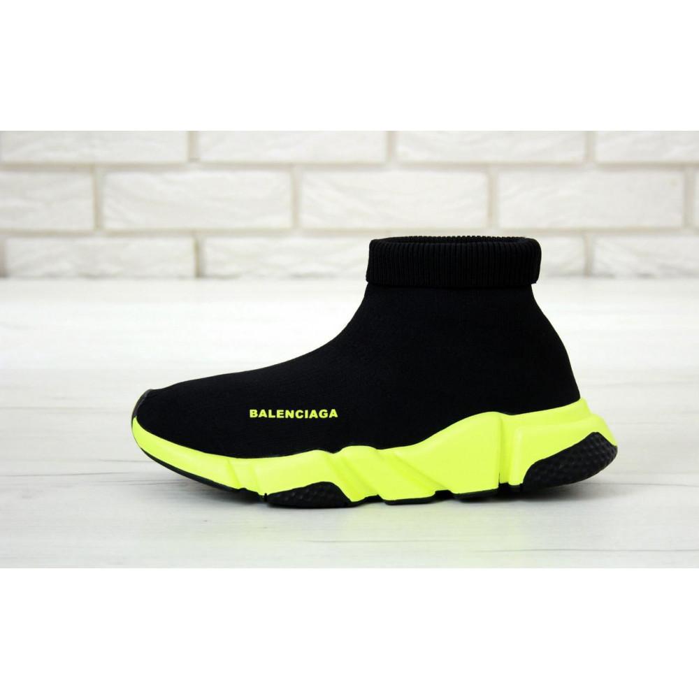 Демисезонные кроссовки мужские   - Кроссовки Баленсиага Спид черно-желтого цвета 1