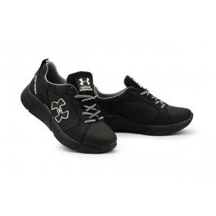 Подростковые кроссовки кожаные весна/осень черные CrosSAV 403
