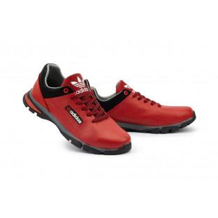 Подростковые кроссовки кожаные весна/осень красные-черные CrosSAV 39