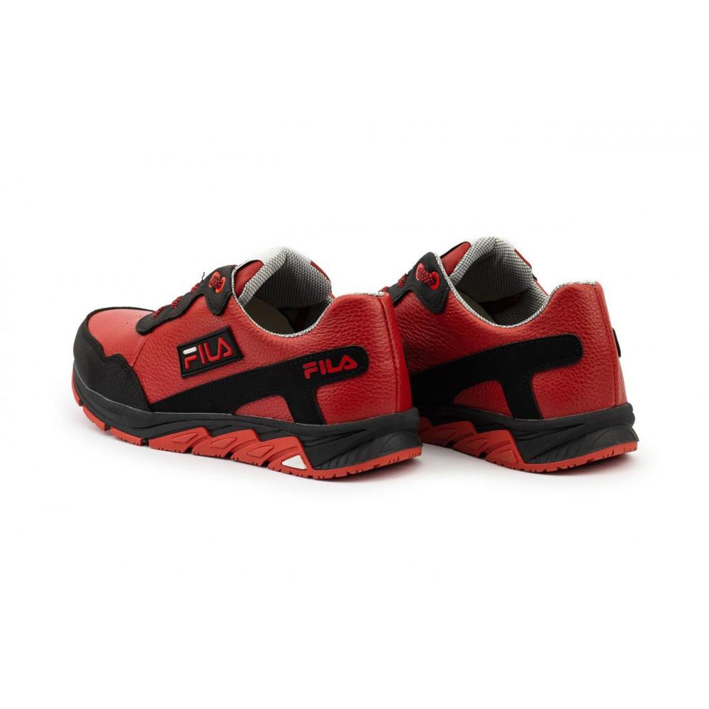 Детские кроссовки кожаные - Подростковые кроссовки кожаные весна/осень красные-черные CrosSAV 05 6