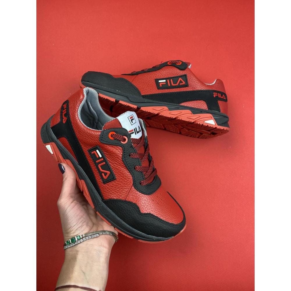 Детские кроссовки кожаные - Подростковые кроссовки кожаные весна/осень красные-черные CrosSAV 05 1