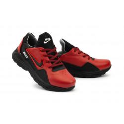 Подростковые кроссовки кожаные весна/осень красные-черные CrosSAV 316