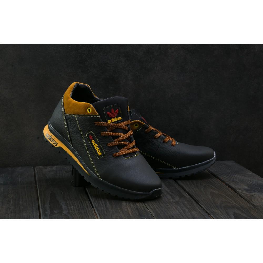 Зимние кроссовки мужские - Мужские кроссовки кожаные зимние синие CrosSAV 39