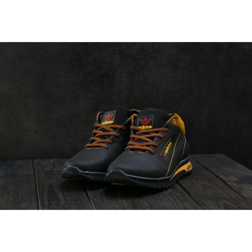 Зимние кроссовки мужские - Мужские кроссовки кожаные зимние синие CrosSAV 39 1