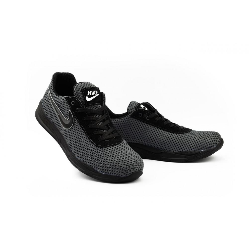Классические кроссовки мужские - Мужские кроссовки текстильные летние серые-черные Lions Nik