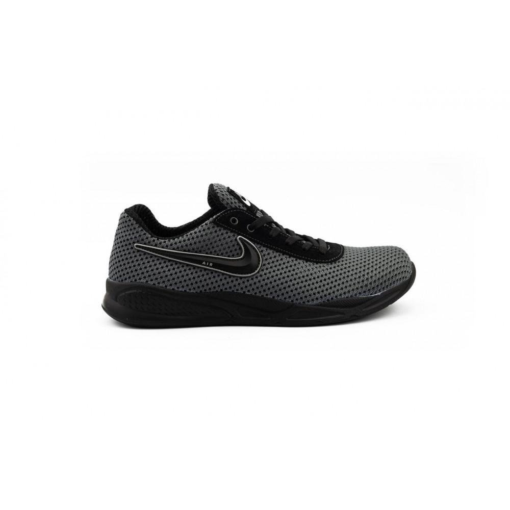Классические кроссовки мужские - Мужские кроссовки текстильные летние серые-черные Lions Nik 8