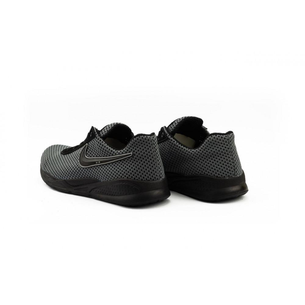 Классические кроссовки мужские - Мужские кроссовки текстильные летние серые-черные Lions Nik 7