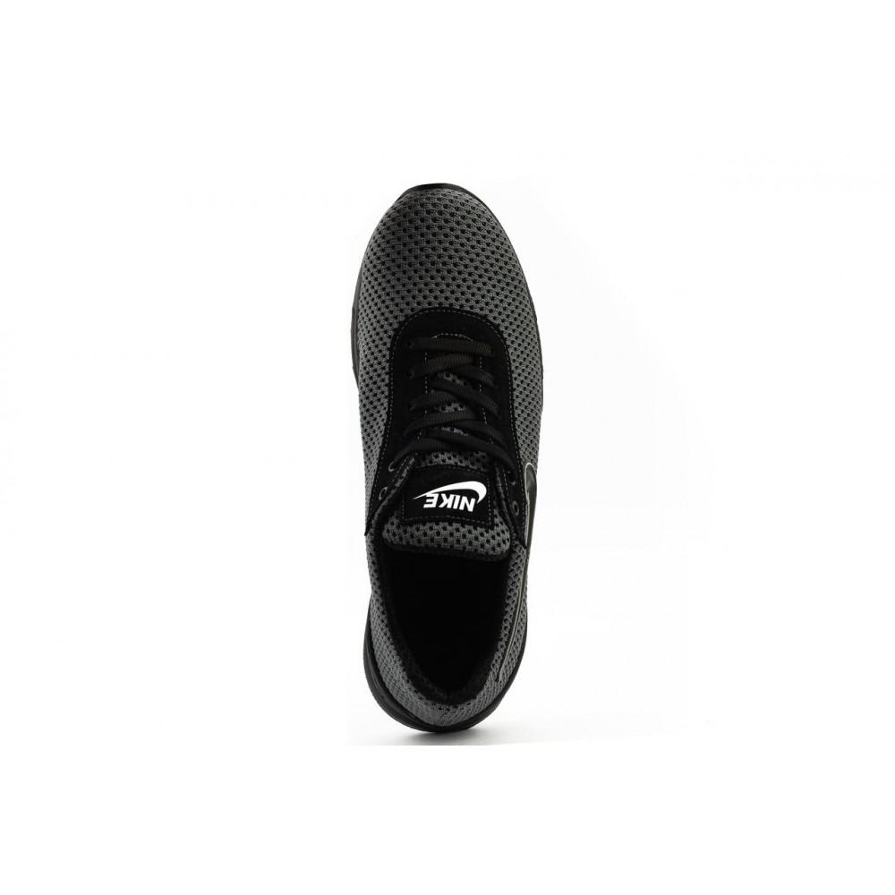 Классические кроссовки мужские - Мужские кроссовки текстильные летние серые-черные Lions Nik 6
