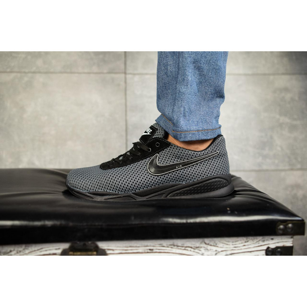 Классические кроссовки мужские - Мужские кроссовки текстильные летние серые-черные Lions Nik 5
