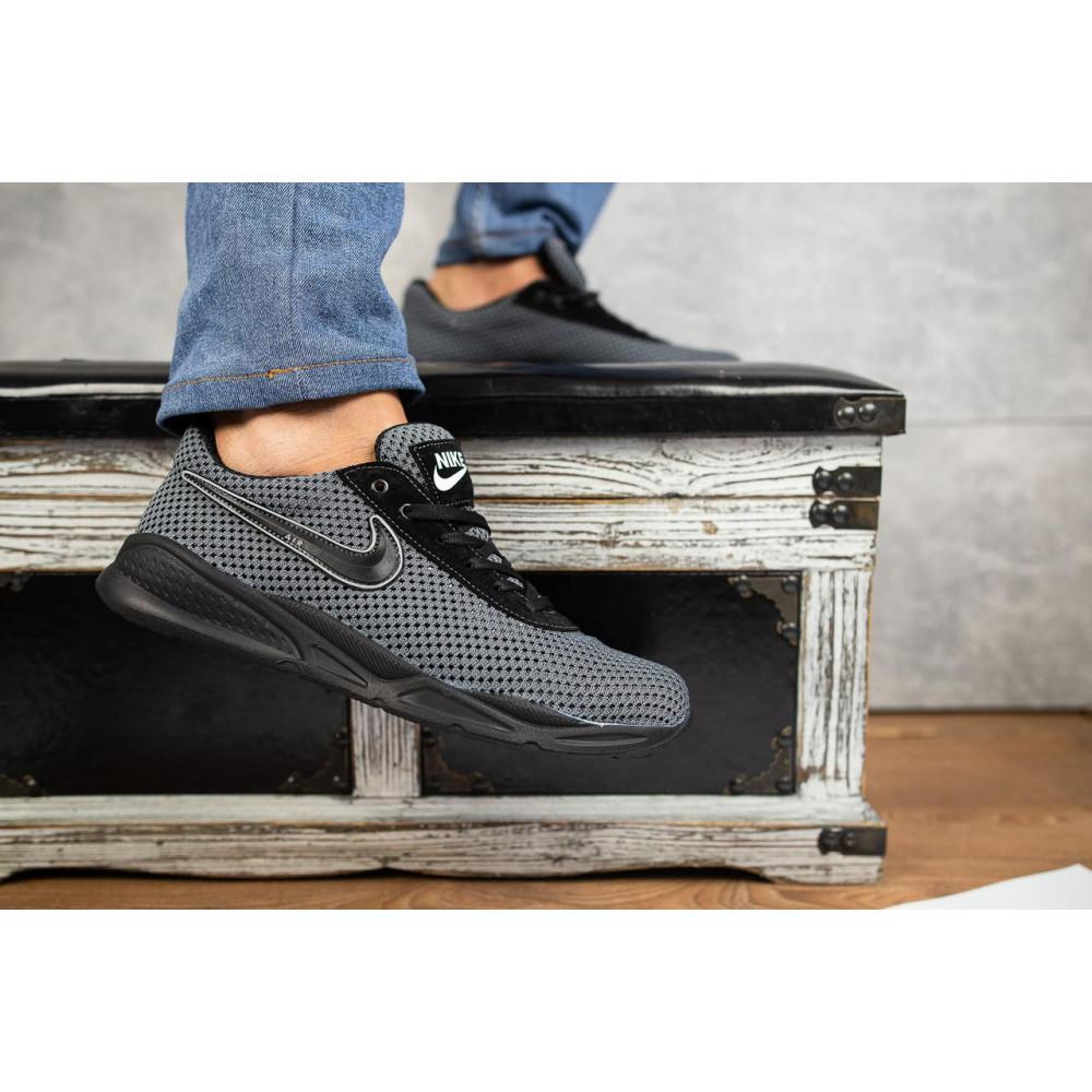 Классические кроссовки мужские - Мужские кроссовки текстильные летние серые-черные Lions Nik 3