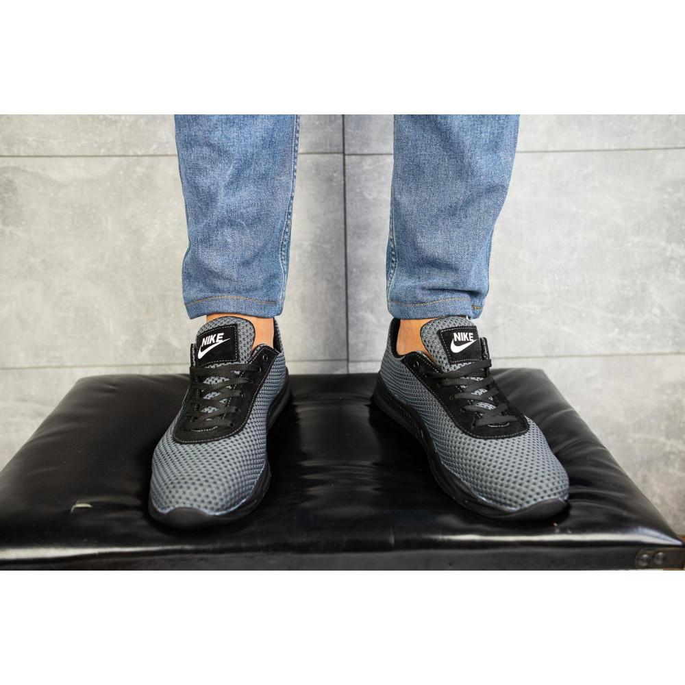 Классические кроссовки мужские - Мужские кроссовки текстильные летние серые-черные Lions Nik 2