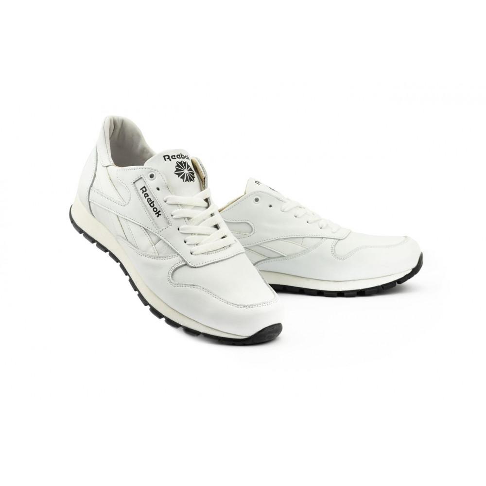 Кожаные кроссовки мужские - Мужские кроссовки кожаные весна/осень белые-белые Lions R16