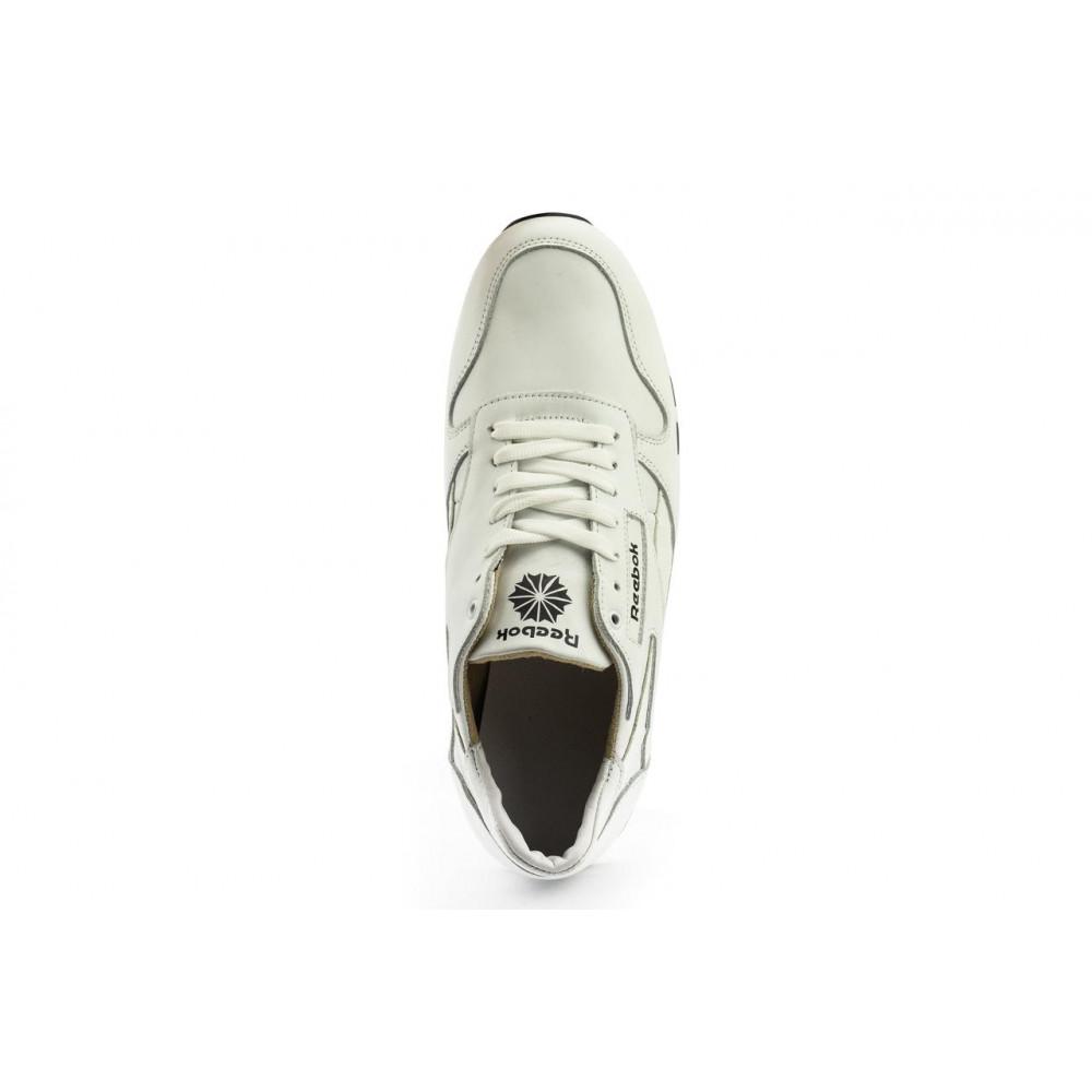 Кожаные кроссовки мужские - Мужские кроссовки кожаные весна/осень белые-белые Lions R16 6