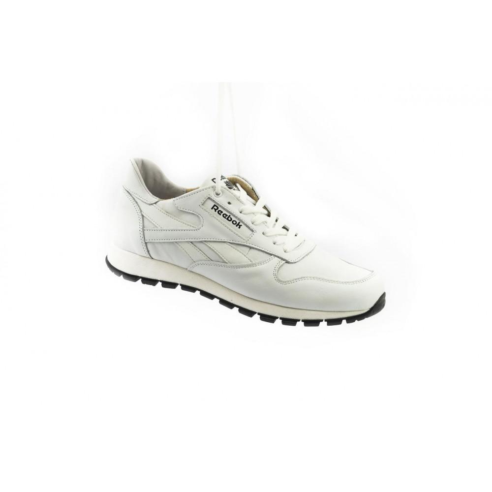 Кожаные кроссовки мужские - Мужские кроссовки кожаные весна/осень белые-белые Lions R16 9
