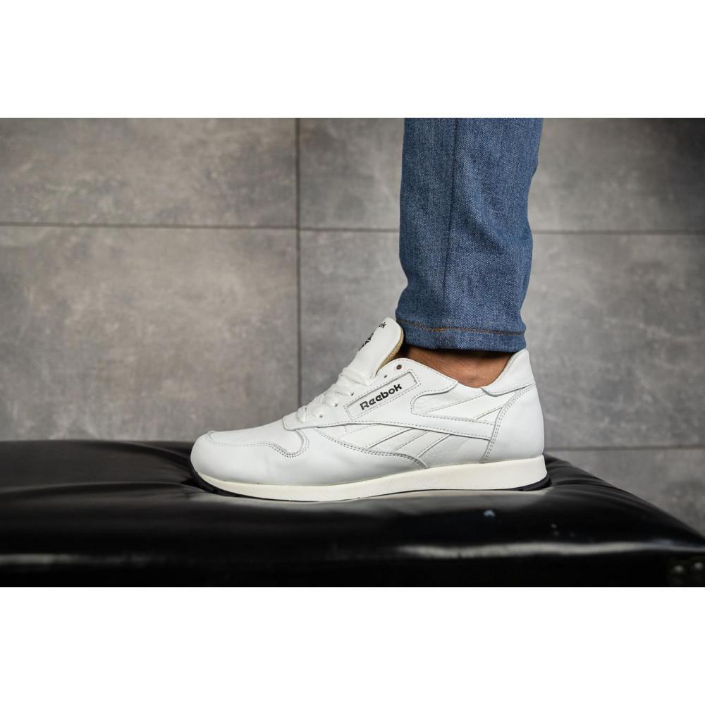Кожаные кроссовки мужские - Мужские кроссовки кожаные весна/осень белые-белые Lions R16 5