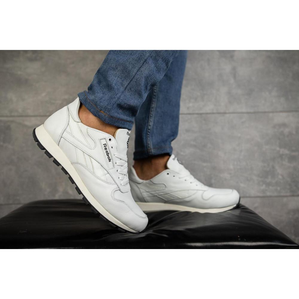 Кожаные кроссовки мужские - Мужские кроссовки кожаные весна/осень белые-белые Lions R16 4