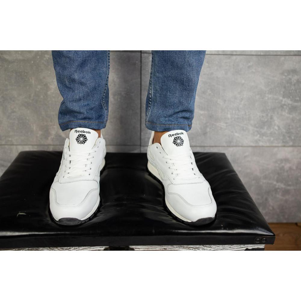 Кожаные кроссовки мужские - Мужские кроссовки кожаные весна/осень белые-белые Lions R16 2