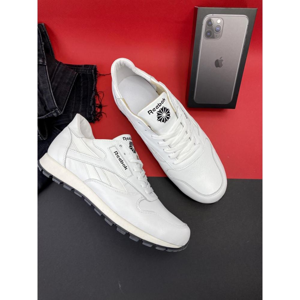 Кожаные кроссовки мужские - Мужские кроссовки кожаные весна/осень белые-белые Lions R16 1