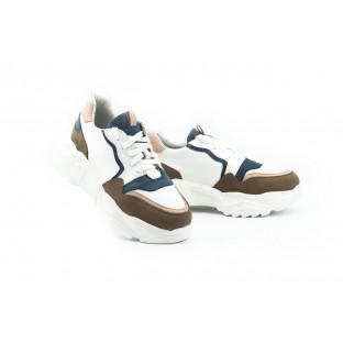 Женские кроссовки кожаные весна/осень белые ANRI-de-colo 662/114