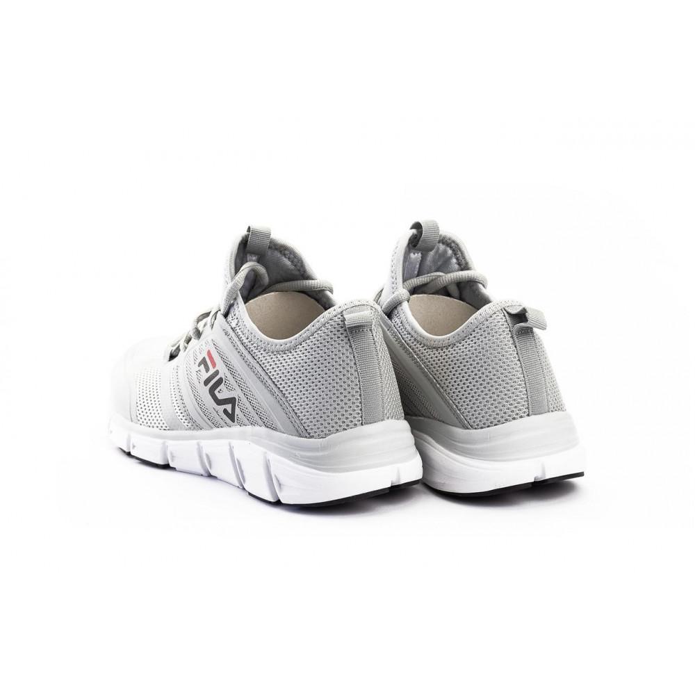 Беговые кроссовки мужские  - Мужские кроссовки текстильные летние серые Classica G 5077-1 2