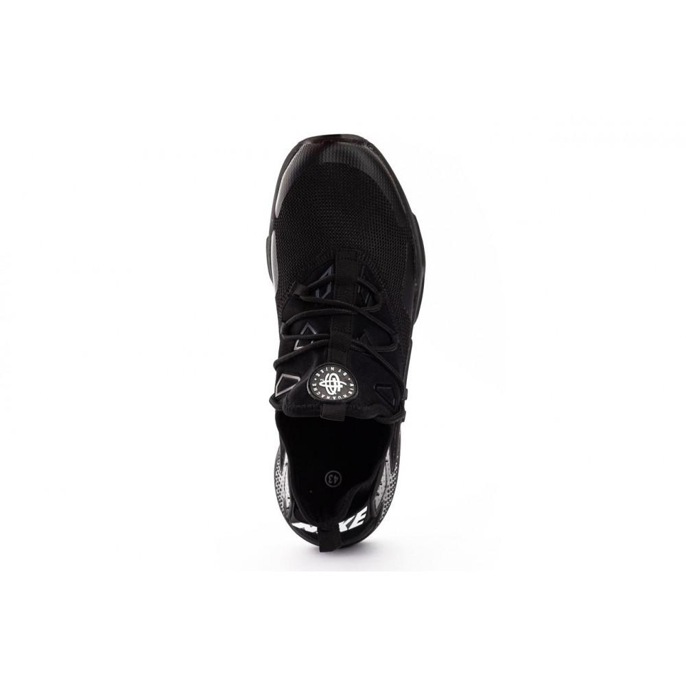 Демисезонные кроссовки мужские   - Мужские кроссовки текстильные весна/осень черные Classica A 5094 -5 2