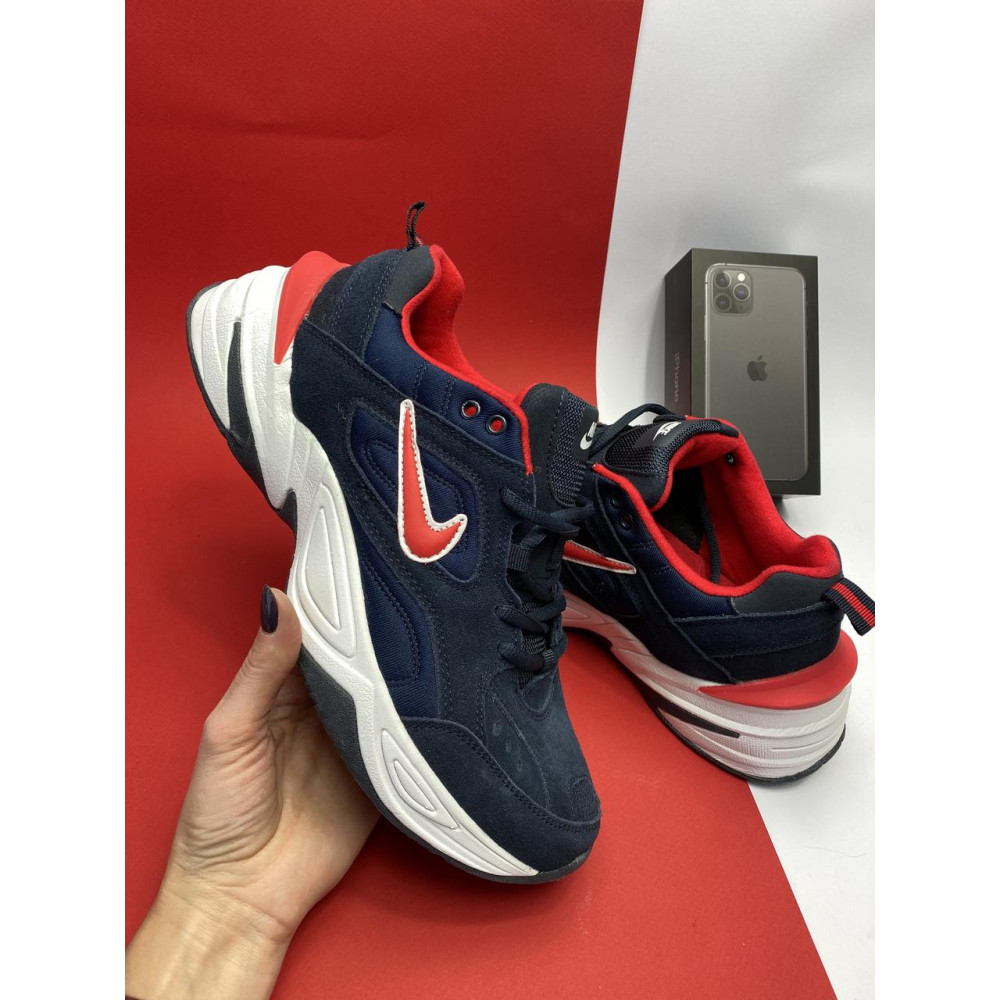 Классические кроссовки мужские - Мужские кроссовки искусственная замша весна/осень синие G5092-2 3
