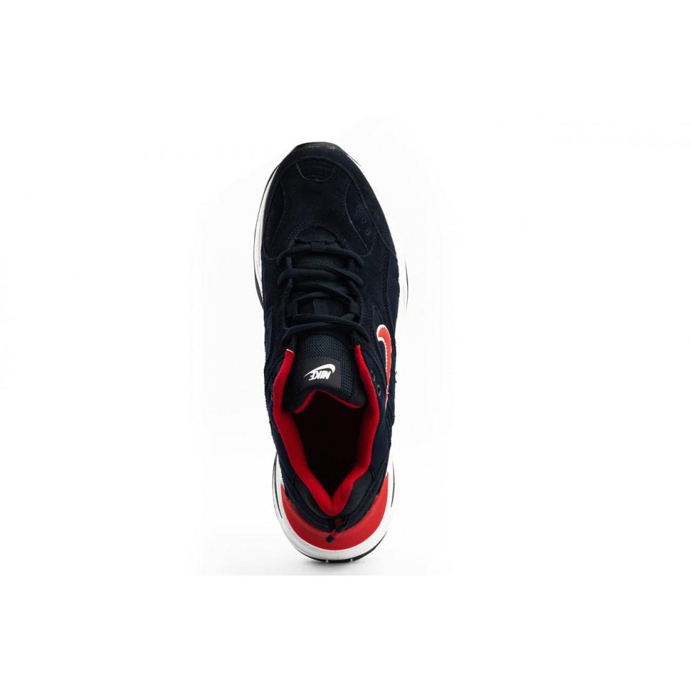 Классические кроссовки мужские - Мужские кроссовки искусственная замша весна/осень синие G5092-2 7