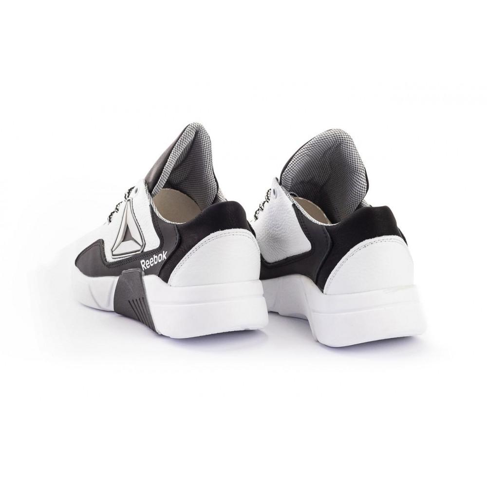 Детские кроссовки кожаные - Подростковые кроссовки кожаные весна/осень белые-черные CrosSAV 317 6
