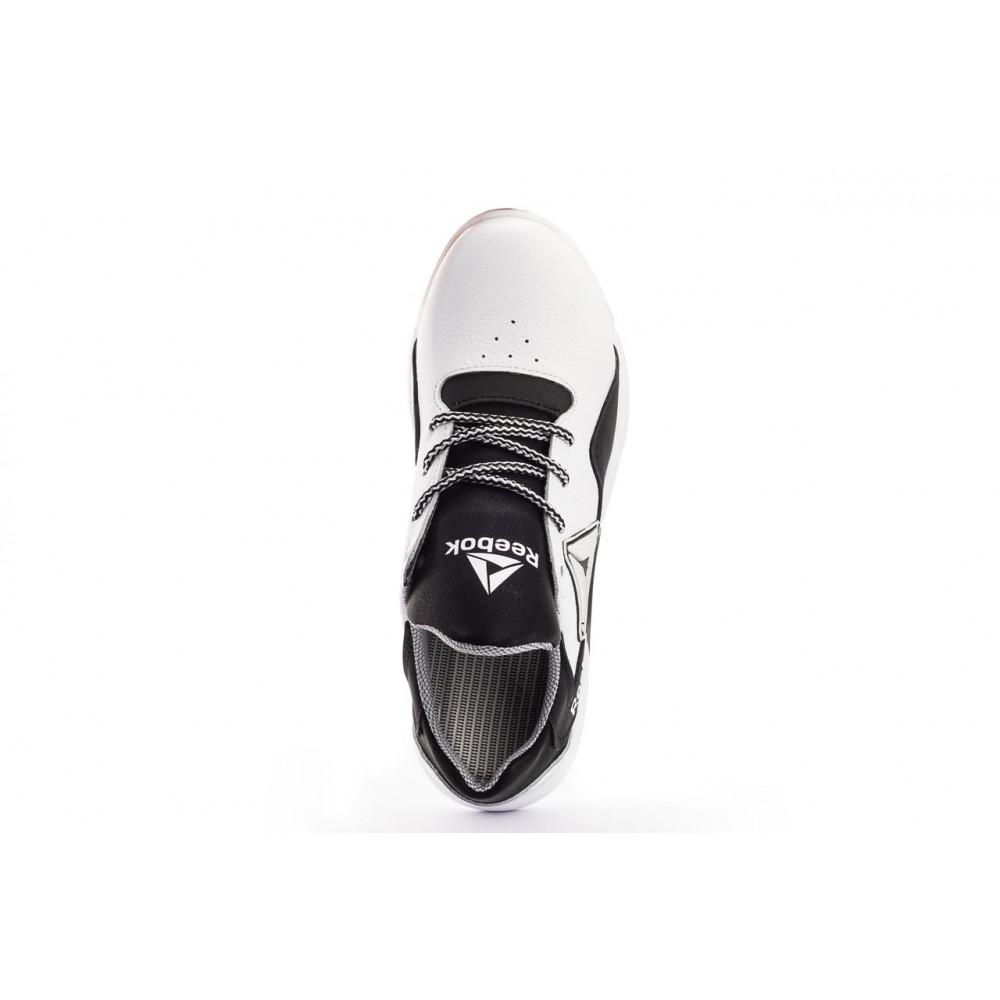 Детские кроссовки кожаные - Подростковые кроссовки кожаные весна/осень белые-черные CrosSAV 317 5