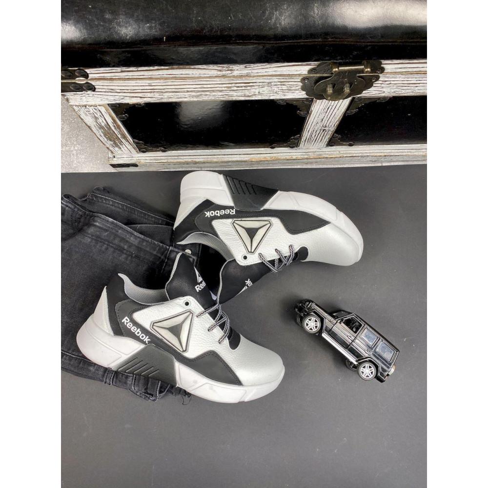 Детские кроссовки кожаные - Подростковые кроссовки кожаные весна/осень белые-черные CrosSAV 317 4