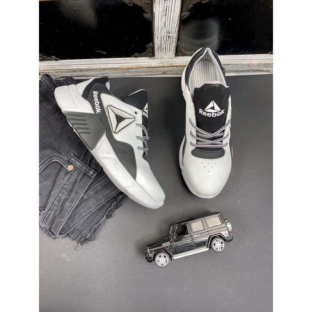 Детские кроссовки кожаные - Подростковые кроссовки кожаные весна/осень белые-черные CrosSAV 317 3