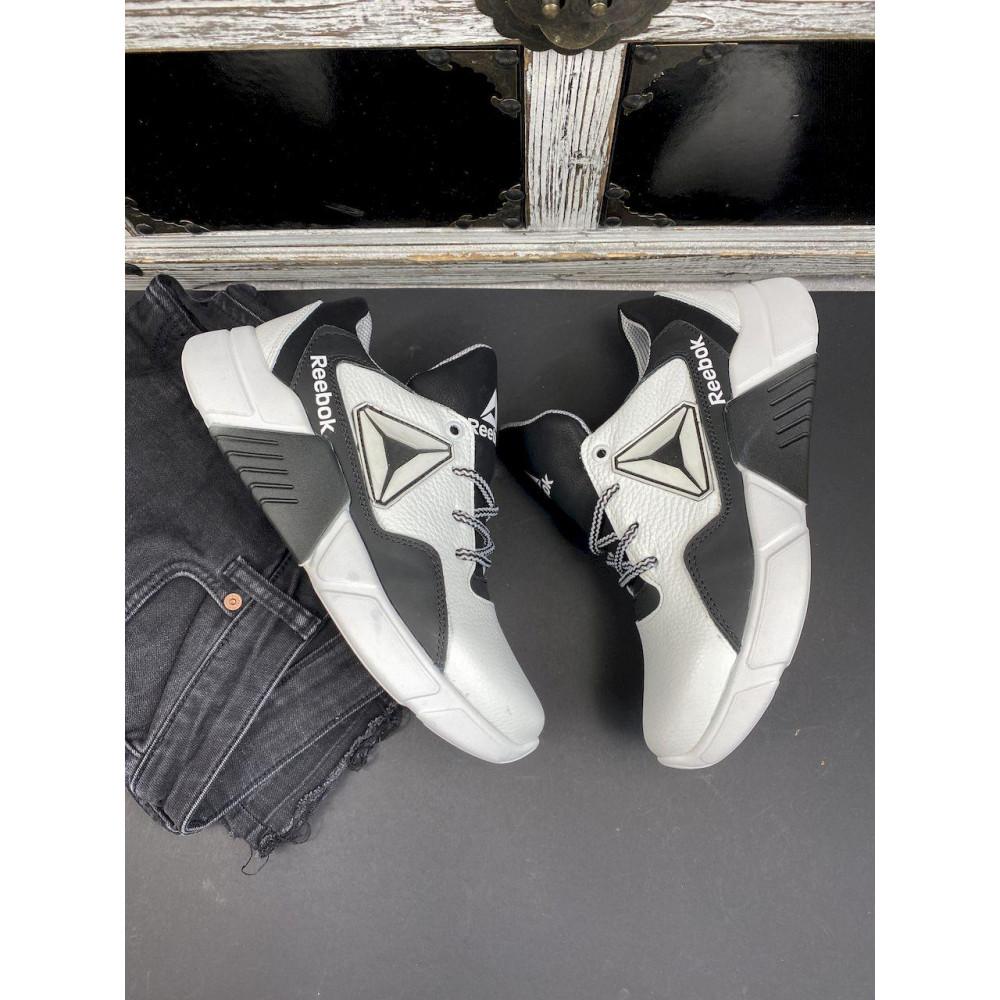 Детские кроссовки кожаные - Подростковые кроссовки кожаные весна/осень белые-черные CrosSAV 317 2