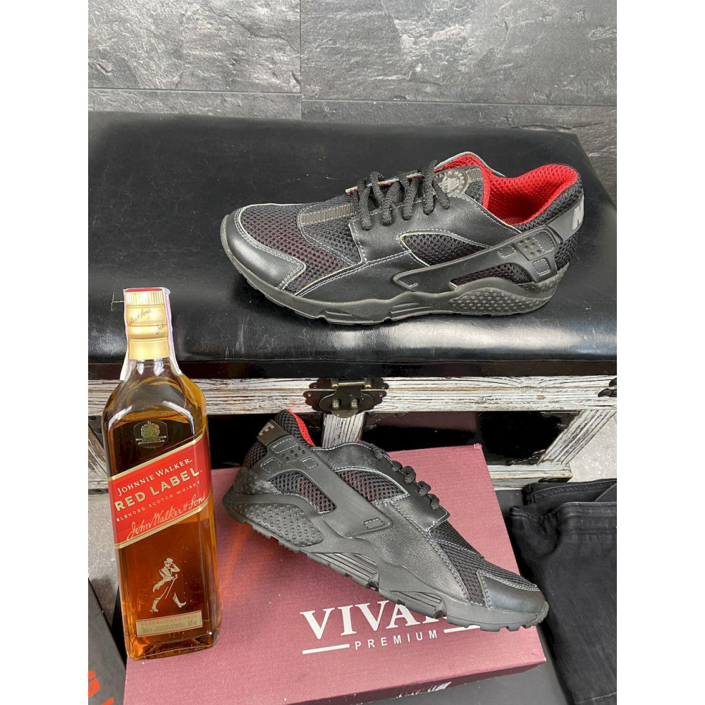Летние кроссовки мужские - Мужские кроссовки текстильные летние черные-красные Twix ХУАР 5
