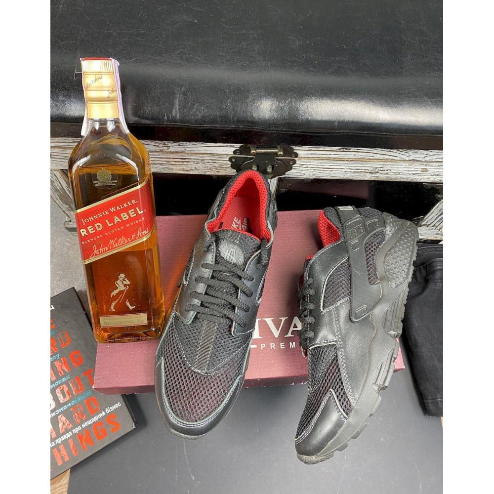 Летние кроссовки мужские - Мужские кроссовки текстильные летние черные-красные Twix ХУАР 7